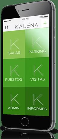 Kalena aplicación móvil para la gestión de espacios